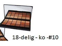 RCMA - FOUNDATION - 18 delig palet make-up palet - KO
